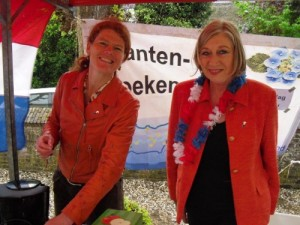 Ellen en Mechel in kraam